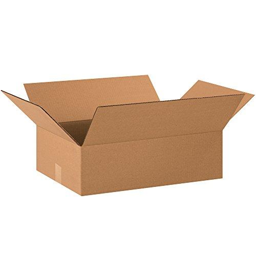 BOX USA B20146500PK Flat Corrugated Boxes, 20''L x 14''W x 6''H, Kraft (Pack of 500) by BOX USA
