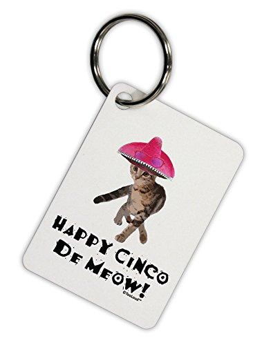TooLoud Cat with Pink Sombrero - Happy Cinco de Meow Aluminum Keyring Tag