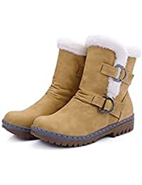 Women Snow Boots Fashion Flat Heels Winter Shoes Warm Fur Spring Autumn Boots Yellow