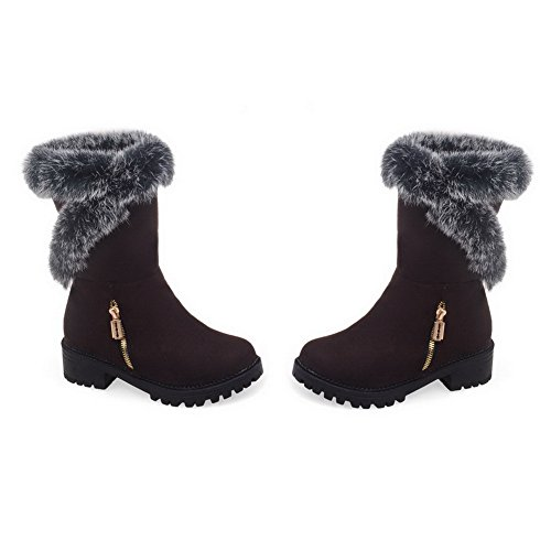 AdeeSu Womens Comfort Platform Tassels Round-Toe Fashion Suede Boots SXC01711 Brown m2qQCarRIi