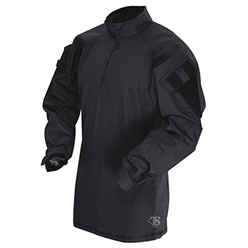 TACTICAL RESPONSE UNIFORM (TRU) 1/4-ZIP COMBAT SHIRT Black/Black X-Large Regular - Uniform Mens Tactical
