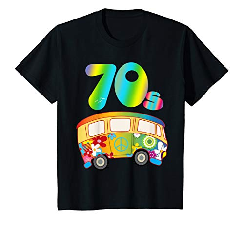 Girls 70s Clothes (Kids COOL FUNKY 70s Hippie Bus Shirt Party Outfit Toddler)