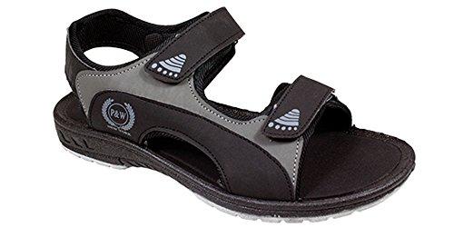 SLR Brands Men's Lightweight Sandals Slides Slip On Comfortable Shower Beach Shoe Flip Flop Sandal for Men (US 12, Black) by SLR Brands