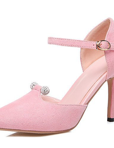 ShangYi Womens Shoes Stiletto Heel DOrsay & Two-Piece / Pointed Toe Sandals Party & Evening / Casual Black / Pink / Gray Pink