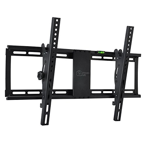 Tilt TV Wall Mount Bracket for 32-75″ Samsung Sony Vizio LG Sharp Panasonic LED LCD Plasma Flat Screen TVs with ±15 Degrees of Tilt VESA 600x400mm Fits 16″ and 24″ Wall Studs 165lbs Capacity