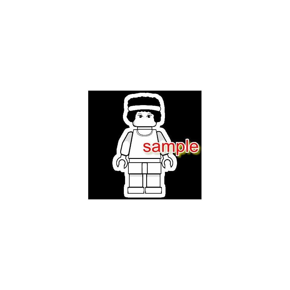 LEGO BASKETBALL GIRL WHITE VINYL DECAL STICKER