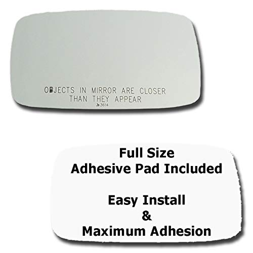 - Mirror Glass + Full Size Adhesive Pad for 1987-1991 Porsche 928 Passenger Side Replacement