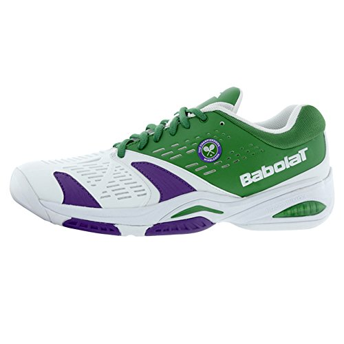 Babolat SFX All Court Wimbledon Mens Tennis Shoes (White/Green) (8 D(M) US)