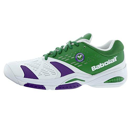 Babolat SFX All Court Wimbledon Mens Tennis Shoes (White/Green) (8 D(M) US)