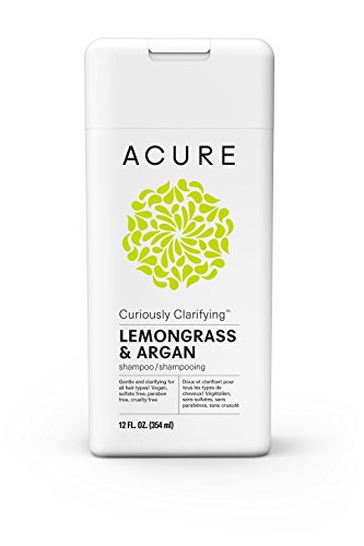 Acure Curiously Clarifying Lemongrass Shampoo, 12 Fluid Ounces