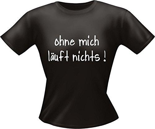 """bedruckte Lady Fun TShirts """" Ohne mich 2 """" Größen S - XXL L"""
