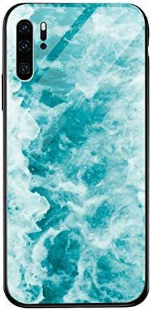 Caler hoes compatibel met Xiaomi Redmi Mi 9T9T Pro hoes 9H gehard marmer glas achterkant met TPU frame beschermhoes ultra dunne hoes voor mobiele telefoon stootvast slim krasbestendig shell case