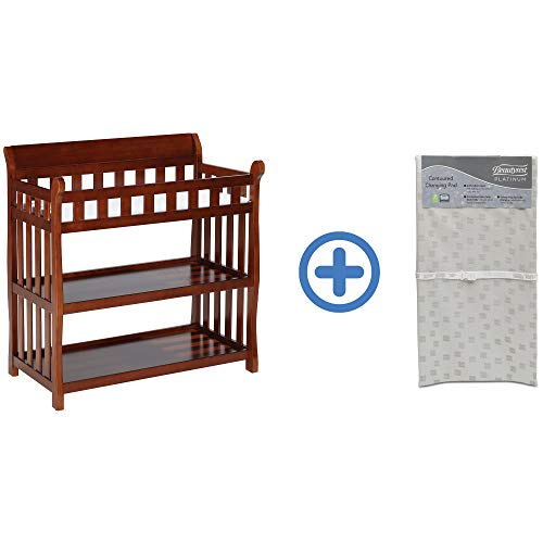 Big Save! Delta Children Eclipse Changing Table, Black Cherry and Waterproof Baby and Infant Diaper ...