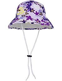 Tuga Girls Reversible Bucket Sun Hat (UPF 50+), Agata, Small
