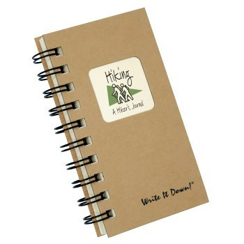 Journals Unlimited JU-30 Hiking, A Hiker's Journal - Kraft Hard Cover (prompts on every page, recycled paper, read more.)