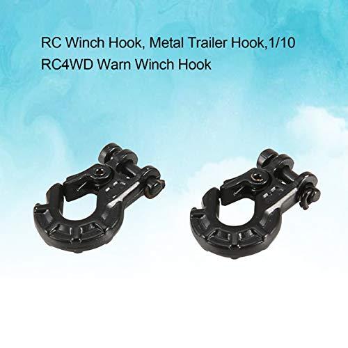 WOSOSYEYO 2pcs Metal Gancho de Remolque Cabrestante de 1/10 RC4WD Advertir Sobre orugas en parcela RC-Pieza del Coche