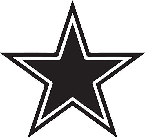 NBFU DECALS Logo Dallas Cowboys 2 (Black) (Set of 2) Premium Waterproof Vinyl Decal Stickers for Laptop Phone Accessory Helmet CAR Window Bumper Mug Tuber Cup Door Wall Decoration