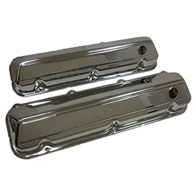 1968-97 Compatible/Replacement for Ford Big Block 429-460 Steel Valve Covers - Chrome: Automotive
