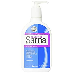 Sarna Sensitive Anti-Itch Lotion for Eczema and Sensitive Dry Skin Itch Relief, 7.5 Ounce