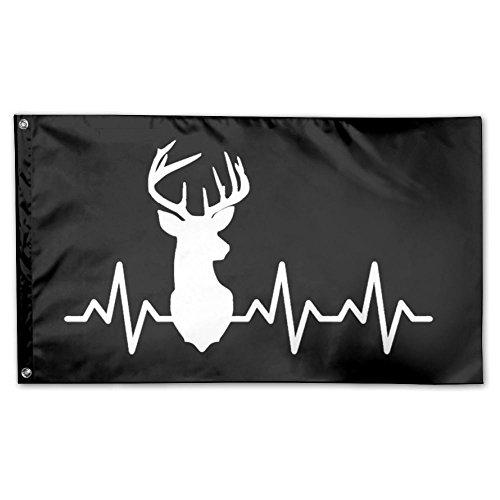 UDSNIS Heartbeat Deer Hunting Garden Flag 3 X 5 Flag For Yar
