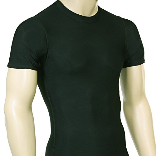 McDavid 883 No Logo Deluxe Short Sleeve Crew Neck Shirt Dark Green 2XL ()