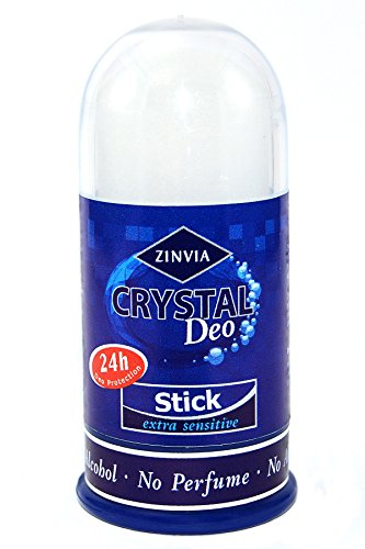 ZINVIA - Crystal Body Deodorant Stone, Crystal White color, 100% Natural, No Chemicals, Fragrance free - 3.52 OZ.