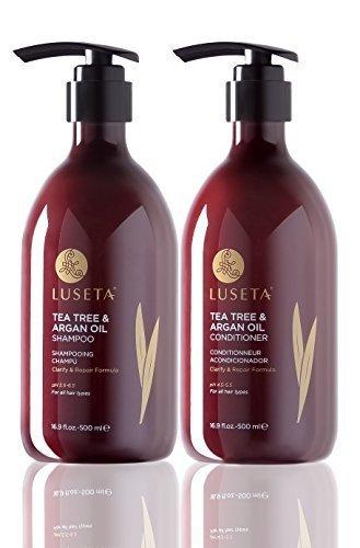 Luseta Tea Tree & Argan Oil Shampoo & Conditioner Set 2x16.9oz