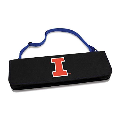 NCAA Illinois Fighting Illini Metro 3-Piece BBQ Tool Set in Carry Case