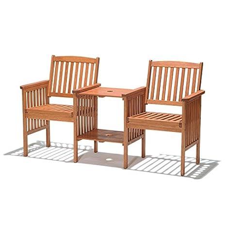ScanCom Chichester Chaise de Jardin en Bois deucalyptus ...