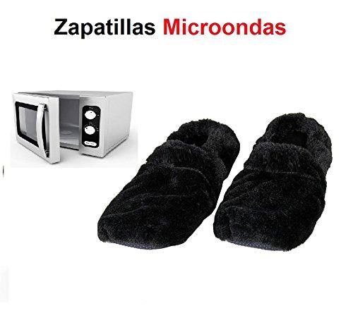 Zapatillas microondas calienta pies color Negro ®