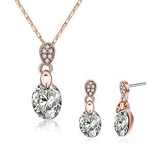 Amazon.com: KnSam Jewelry Set Women Earrings Necklace Set