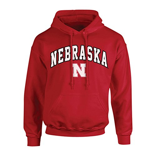 Elite Fan Shop Nebraska Cornhuskers Hooded Sweatshirt Arch Red - M