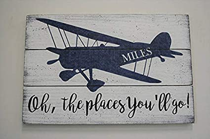 Amazon Com Ruskin352 Wood Plaque Sign Oh The Places You Ll