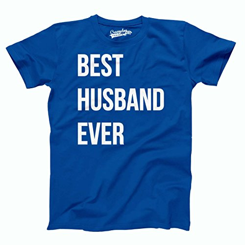 Best Husband Ever T Shirt Funny Wedding Married Man Tee Gift Blue,Small