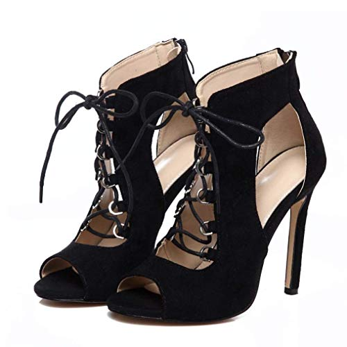 Chaussures Romaines De À Fermé Club Utilitaires Plateforme Gladiator Femmes Sandales Martin Scintillantes Pour Talons Bureau Noir Escarpins Bout Travail Qiusa Court d5XqOwd
