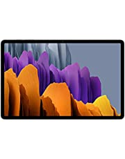 Samsung Galaxy Tab S7+, Android tablet met pen, WiFi, 3 camera's, grote 10.090 mAh batterij, 12,4 inch Super AMOLED-display, 256 GB/8 GB RAM, tablet in zilver