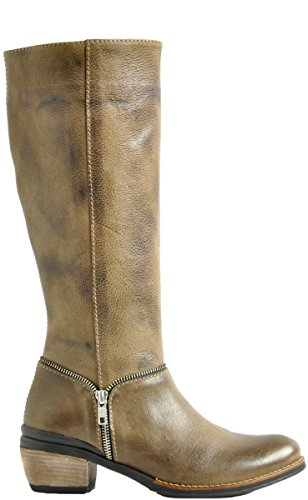 Wolky largo botas 4156 Lynne 315 taupe leather
