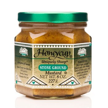 Honeycup, Mustard Stone Grnd, 8 OZ (Pack of 6)