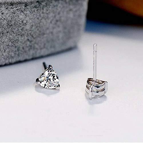 Fashion Silver Heart Shaped Crystal Women Girls Ear Stud Earrings Jewelry Gifts (Best Juice Bars Los Angeles)