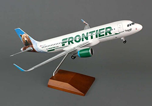 Skymarks Supreme SKR8319 Skymarks Frontier A320 1-100 with GEAR & Wood Stand with SHARKLETS