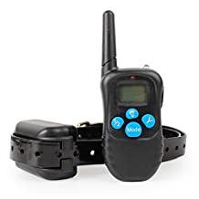 OXU Remote Dog Shock Training Collar With Beep, Vibration, Shock Electronic and Light, Rechargeable & Waterproof For All Size Dog, 1000ft Range