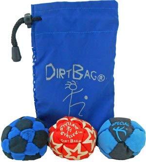 Dirtbag Medley Footbag/Hacky Sack 3 Pack - Blue/Black by Dirtbag