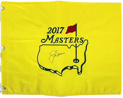 Jack Nicklaus Authentic Signed 2017 Masters Pin Flag Autographed BAS #A72450 ()