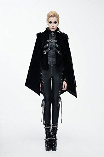 Thick Vampire Tamaños Devil Coat Mujeres Winter Punk 7 Gothic Para Fashion 1vvOHg