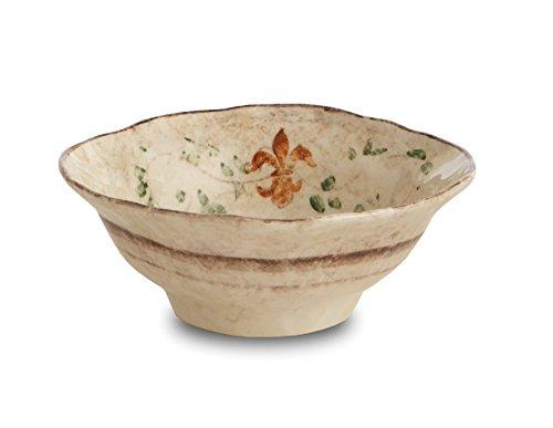 Arte Italica Medici Pasta/Cereal Bowl, Cream - Fleur Cereal Bowl