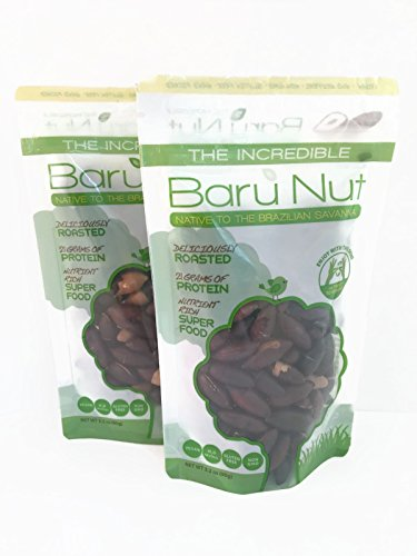 The Incredible Baru Nuts (2-PACK) , 90g pouch (3.2 oz) - Roasted in Ziplock Stand-up Pouch