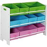 Home Basics Storage Shelf with 9 Bins