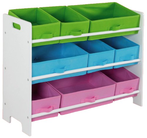 Home Basics SS00685 Storage Shelf with 9 Bins by Home Basics