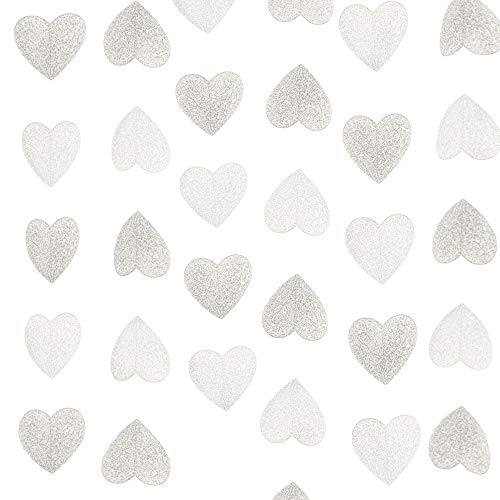 Lacheln Glitter Paper Heart Garland Hanging Party Decorations for Wedding, Baby Shower, Christmas Decor,20 Feet Total (Glitter ()