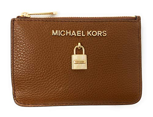 - Michael Kors Adele Small Top Zip Coin Pouch ID Card Case Wallet (Luggage)